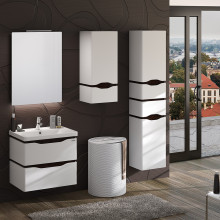"Cabinet ""ALESSA AIR"" 60 wenge with wash basin ""Kante"""