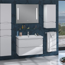 "Cabinet ""ALESSA AIR"" 60 white with wash basin ""Kante"""