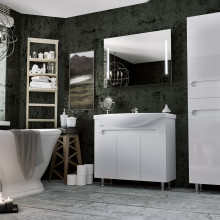 "Cabinet ""Di AMO"" 85 white with wash basin ""Iseo"""