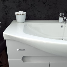 "Cabinet ""Di AMO"" 95 white with wash basin ""Iseo"""