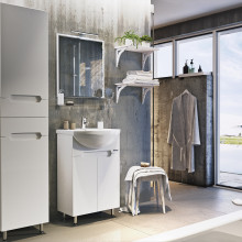 "Cabinet ""Di AMO"" 55 white with wash basin ""Iseo"""