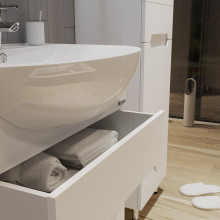 "Cabinet ""Di AMO"" 60 white with wash basin ""Iseo"""
