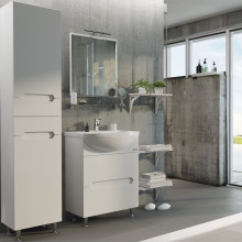 "Cabinet ""Di AMO"" 65 white with wash basin ""Iseo"""