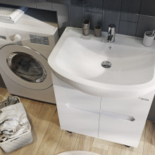 "Cabinet ""Di AMO"" 70 white with wash basin ""Iseo"""