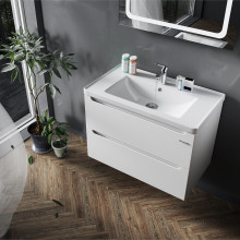 "Cabinet ""ERA AIR"" 60 white with wash basin ""Kante"""