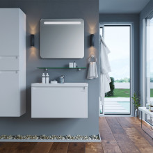 "Cabinet ""FONDA AIR"" 60 white with wash basin ""Kante"""