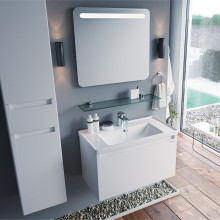 "Cabinet ""FONDA AIR"" 70 white with wash basin ""Kante"""