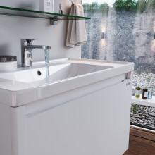 "Cabinet ""FONDA AIR"" 80 white with wash basin ""Kante"""
