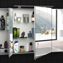 """Mirror Cabinet """"EVEREST"""" 100 cm, grey without lighting"""