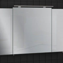 "Mirror Cabinet ""EVEREST"" 100 cm, grey without lighting"